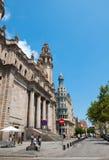 巴塞罗那的通信机午间。 库存图片