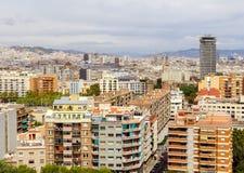 巴塞罗那看法从上面的 图库摄影