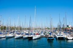 巴塞罗那端口西班牙 免版税库存照片