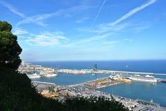 巴塞罗那端口 免版税图库摄影