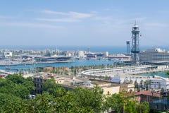 巴塞罗那端口 库存照片