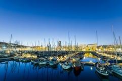 巴塞罗那端口vell 免版税库存照片