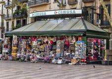 巴塞罗那纪念品店 库存照片
