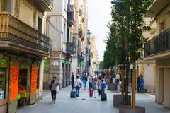 巴塞罗那街道生活,西班牙 库存图片