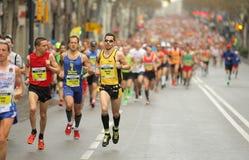 巴塞罗那马拉松 免版税库存照片