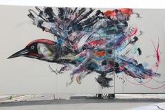 巴塞罗那街道画艺术  库存照片
