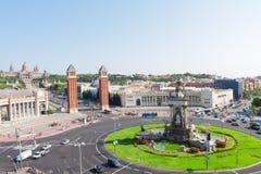 巴塞罗那西班牙广场 免版税库存照片
