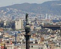 巴塞罗那西班牙视图 库存照片