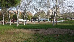 巴塞罗那西班牙 2017年3月27日- Ciutadella公园,美丽的da 库存照片