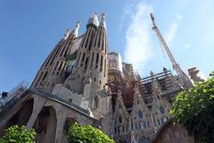 巴塞罗那西班牙La Sagrada Familia 免版税库存图片
