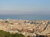 巴塞罗那视图 库存图片
