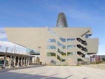 巴塞罗那设计和Agbar塔在西班牙 免版税库存照片