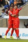 巴塞罗那足球俱乐部利奥Messi和Neymar  免版税库存图片