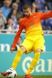 巴塞罗那足球俱乐部杰勒德生气  库存照片