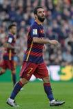 巴塞罗那足球俱乐部的阿尔达・图兰 免版税库存图片