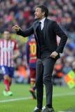 巴塞罗那足球俱乐部的雷斯恩里克马丁内斯经理 库存照片
