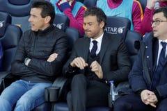 巴塞罗那足球俱乐部的雷斯恩里克马丁内斯经理 免版税库存照片