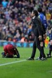 巴塞罗那足球俱乐部的雷斯恩里克马丁内斯经理 免版税图库摄影