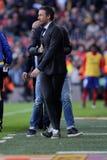巴塞罗那足球俱乐部的雷斯恩里克马丁内斯经理 免版税库存图片