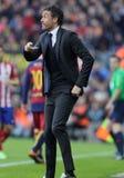 巴塞罗那足球俱乐部的雷斯恩里克马丁内斯经理 图库摄影