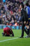 巴塞罗那足球俱乐部的雷斯恩里克马丁内斯经理 库存图片