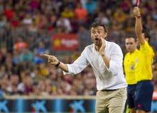 巴塞罗那足球俱乐部的雷斯恩里克 免版税库存照片