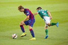 巴塞罗那足球俱乐部的Sergi桑佩尔角 图库摄影