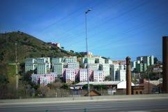 巴塞罗那郊区居民居民住房 库存照片