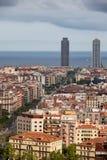 巴塞罗那都市风景城市 免版税库存照片