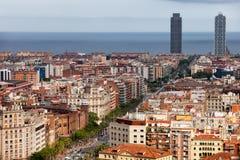 巴塞罗那都市风景城市 免版税库存图片