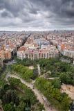 巴塞罗那都市风景从上面 图库摄影