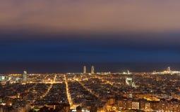 巴塞罗那都市风景 库存照片