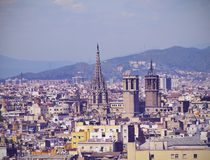 巴塞罗那都市风景  图库摄影
