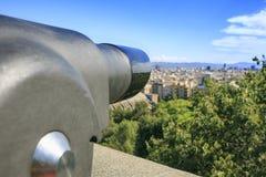 巴塞罗那风景从montjuic的 免版税库存照片