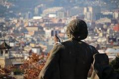 巴塞罗那鸽子景色  库存照片