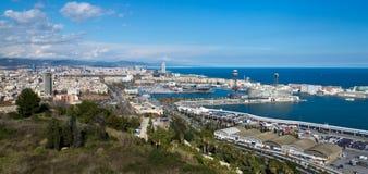巴塞罗那,城市视图。 免版税库存照片