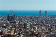 巴塞罗那,城市视图。 免版税图库摄影
