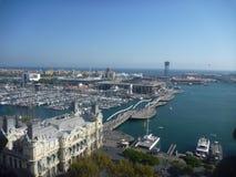 巴塞罗那,港口 免版税图库摄影