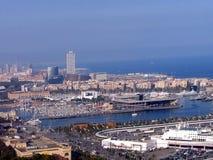 巴塞罗那,西班牙全景  免版税库存图片