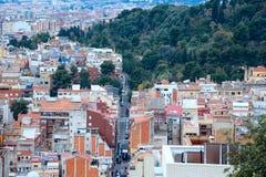 巴塞罗那,西班牙全景  免版税库存照片