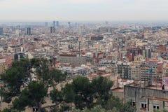 巴塞罗那,西班牙全景  图库摄影