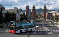 巴塞罗那,西班牙广场 免版税库存图片