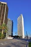巴塞罗那,西班牙摩天大楼  免版税库存照片