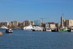 巴塞罗那,西班牙港口岸Vell 库存照片