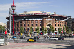 巴塞罗那,西班牙竞技场  库存照片