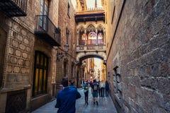 巴塞罗那,西班牙老镇  免版税库存照片