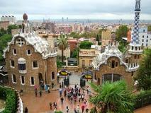 巴塞罗那,西班牙2013年10月-11 -公园Guell 库存图片