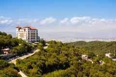 巴塞罗那,西班牙- 2016年7月13日:在Tibidabo,巴塞罗那,卡塔龙尼亚,西班牙附近的Gran旅馆拉佛罗里达 免版税库存照片