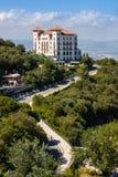 巴塞罗那,西班牙- 2016年7月13日:在Tibidabo,巴塞罗那,卡塔龙尼亚,西班牙附近的Gran旅馆拉佛罗里达 库存图片