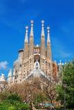 巴塞罗那,西班牙- 2016年4月18日:拉萨格拉达Familia大教堂  免版税库存图片